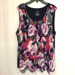 New York & Company Floral Blouse- Sleeveless